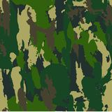 Classic Seamless Military Forest Camouflage Pattern Background. Royalty Free Stock Images