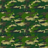 Classic Seamless Military Forest Camouflage Pattern Background. Royalty Free Stock Image