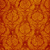 Classic seamless ornament in red. Classic seamless ornament Damask style in red and gold vector illustration