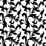 Classic seamless pattern. Tracery of leaves on a white backgroun Royalty Free Stock Photo