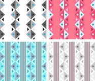 Classic seamless pattern with triangles and lines Royalty Free Stock Images