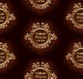 Classic seamless pattern for your princess Stock Image