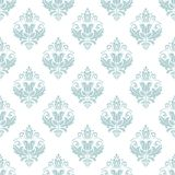 Classic Seamless Vector Pattern. Traditional orient light blue and white ornament. Classic vintage background Stock Photos