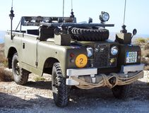 Classic Series 1 Military Land Rover Royalty Free Stock Photography