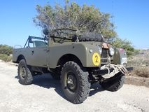 Classic Series 1 Military Land Rover Royalty Free Stock Photos