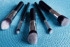 Classic set of brushes for cosmetics Royalty Free Stock Photo