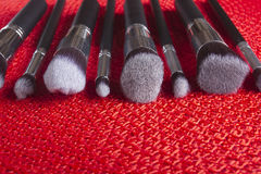 Classic set of brushes for cosmetics Stock Photos