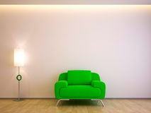 Classic Shades- Green Couch Stock Photo