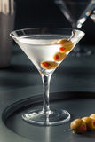 Classic Shaken Dry Vodka Martini. With Olives Royalty Free Stock Photo