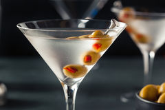 Classic Shaken Dry Vodka Martini. With Olives Royalty Free Stock Photography