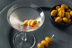 Classic Shaken Dry Vodka Martini. With Olives Stock Photography