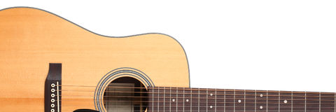 Classic shape western acoustic guitar Royalty Free Stock Photos