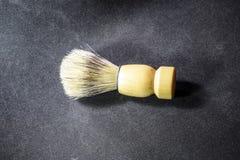 Classic shaving brush with raccoon fur. Classic shaving brush with a raccoon fur royalty free stock photos