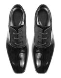 Classic shiny black men's shoes Stock Images