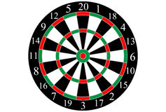 Classic shooting dart board, Vector.  Royalty Free Stock Images