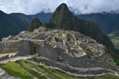 The Classic shot of Machu Picchu. Royalty Free Stock Images