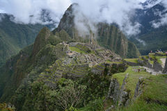 The Classic shot of Machu Picchu. Stock Images