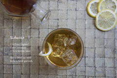 Classic Side Car cocktail and recipe Stock Image