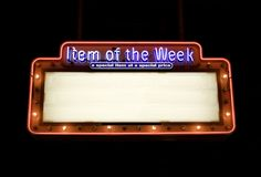 Classic Sign. Item of the week neon sign royalty free stock photography