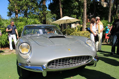 Classic silver Ferrari 250 gt speciale front view Stock Photography
