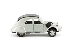 Classic silver toy car Stock Photo