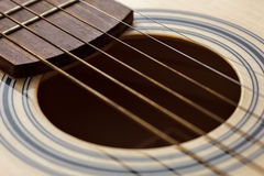Classic six-string guitar up close Royalty Free Stock Photo