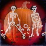 Classic Skeletons Halloween Retro 2 Stock Photography