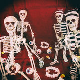 Classic Skeletons Halloween Retro Royalty Free Stock Images