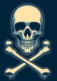 Classic skull with crossed bones Royalty Free Stock Photography