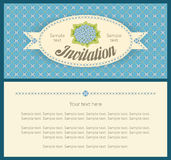 Classic sky blue hydrangea landscape design for invitation card Royalty Free Stock Images