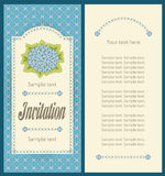 Classic sky blue hydrangea portrait design for invitation card Royalty Free Stock Image