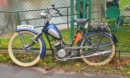 Classic small German motorcycle Wanderer Royalty Free Stock Images