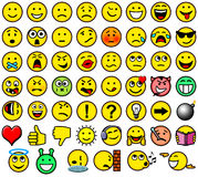 Classic smileys Royalty Free Stock Photos