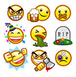Classic smileys set 4 Stock Photos