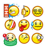 Classic smileys set 3 Royalty Free Stock Photo