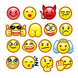 Classic smileys set 2 Royalty Free Stock Image