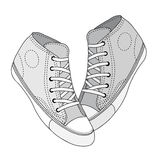 Classic sneaker sketched Royalty Free Stock Photography