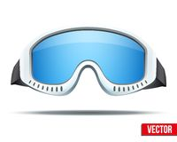 Classic snowboard ski goggles with colorful glass Stock Photos
