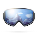 Classic snowboarding goggles with big glass Royalty Free Stock Photo