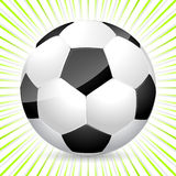 Classic soccer ball with bursting background Royalty Free Stock Image