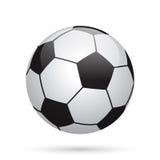 Classic soccer ball. Football icon. Stock Photos