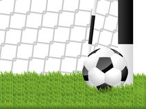 Classic soccer ball in grass Royalty Free Stock Images