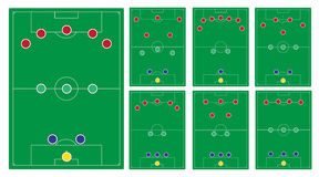Classic soccer formation set Royalty Free Stock Image