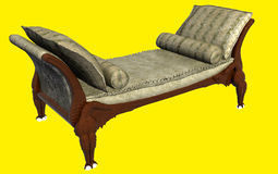 Classic Sofa 3D Rendering Royalty Free Stock Image