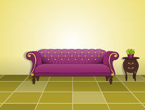 Classic sofa and coffee table Stock Images