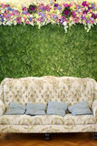 Classic sofa with flower Stock Images