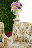 Classic sofa with flower Stock Image