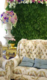 Classic sofa with flower Royalty Free Stock Photos
