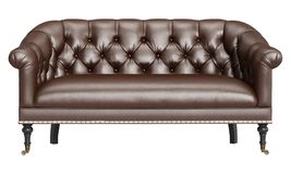 Classic sofa isolated on white background.Digital illustration.3d rendering royalty free illustration