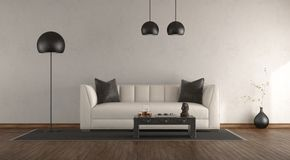 Classic sofa in a white room royalty free stock photo